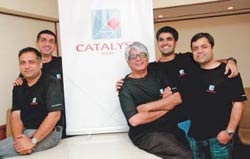 Team Catalyst: (From left) Gaurav Saklani, Tarun Chandna, Jayant Kripalani, Puneet Palaha and Saurabh Saklani